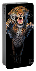 Leaping Leopard Portable Battery Charger by Andrew Farley