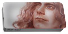 Robert Plant - ' Leaves Are Falling All Around ' Portable Battery Charger by Christian Chapman Art