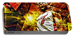 Lebron James Art Poster Portable Battery Charger by Florian Rodarte
