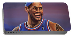 Lebron James  Portable Battery Charger by Paul Meijering
