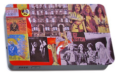 Led Zeppelin  Collage Number Two Portable Battery Charger by Donna Wilson