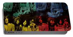 Led Zeppelin Pop Art Collage Portable Battery Charger by Dan Sproul