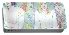 Led Zeppelin Tie Dye Portable Battery Charger by Dan Sproul