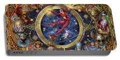 Legacy Of The Divine Tarot Portable Battery Charger by Ciro Marchetti