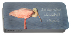Life Wonderful And Perfect Portable Battery Charger by Kim Hojnacki