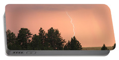 Portable Battery Charger featuring the photograph Lighting Strikes In Custer State Park by Bill Gabbert