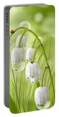 Lily Of The Valley Portable Battery Charger by Veronica Minozzi