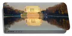 Lincoln Memorial & Reflecting Pool Portable Battery Charger by Panoramic Images