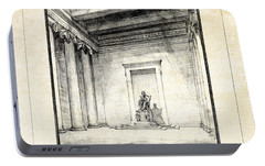 Lincoln Memorial Sketch IIi Portable Battery Charger by Gary Bodnar