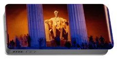 Lincoln Memorial, Washington Dc Portable Battery Charger by Panoramic Images