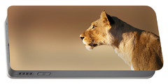 Lioness Portrait Portable Battery Charger by Johan Swanepoel
