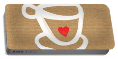 Little Cup Of Love Portable Battery Charger by Linda Woods