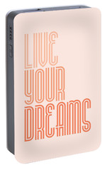 Live Your Dreams Wall Decal Wall Words Quotes, Poster Portable Battery Charger by Lab No 4 - The Quotography Department