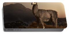 Llama Dawn Portable Battery Charger by Daniel Eskridge