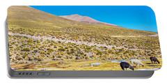 Llama Landscape Portable Battery Charger by Jess Kraft
