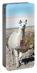 Llama With Uyuni Salt Flats Portable Battery Charger by Jess Kraft