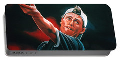 Lleyton Hewitt 2  Portable Battery Charger by Paul Meijering