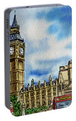 London England Big Ben Portable Battery Charger by Irina Sztukowski