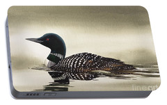 Loon In Still Waters Portable Battery Charger by James Williamson