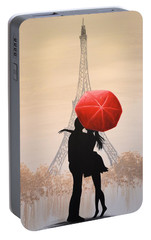 Love In Paris Portable Battery Charger by Amy Giacomelli
