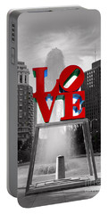 Love Isn't Always Black And White Portable Battery Charger by Paul Ward