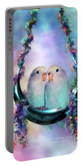 Love On A Moon Swing Portable Battery Charger by Carol Cavalaris