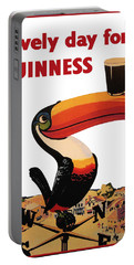Lovely Day For A Guinness Portable Battery Charger by Georgia Fowler