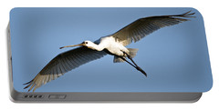 Low Angle View Of A Eurasian Spoonbill Portable Battery Charger by Panoramic Images