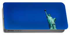 Low Angle View Of Statue Of Liberty Portable Battery Charger by Panoramic Images