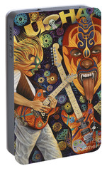 Lucha Rock Portable Battery Charger by Ricardo Chavez-Mendez