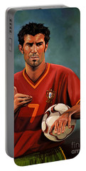 Luis Figo Portable Battery Charger by Paul Meijering