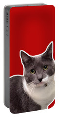 Mac Attack-custom Order Portable Battery Charger by Linda Woods