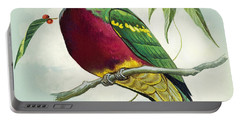Magnificent Fruit Pigeon Portable Battery Charger by Bert Illoss