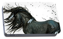 Majestic Friesian Horse 112 Portable Battery Charger by AmyLyn Bihrle