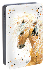 Majestic Palomino Horse 84 Portable Battery Charger by AmyLyn Bihrle