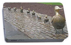 Make Way For Ducklings Portable Battery Charger by Barbara McDevitt