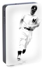 Mantles Gate  Mickey Mantle Portable Battery Charger by Iconic Images Art Gallery David Pucciarelli
