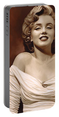Marilyn Monroe Artwork 2 Portable Battery Charger by Sheraz A