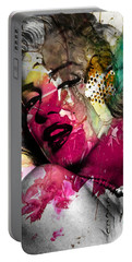Marilyn Monroe Portable Battery Charger by Mark Ashkenazi