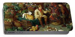 Market Scene Portable Battery Charger by Henry Charles Bryant