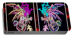 Mech Dragons Pastel Portable Battery Charger by Shawn Dall
