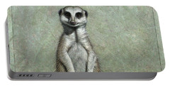 Meerkat Portable Battery Charger by James W Johnson