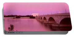 Memorial Bridge, Washington Dc Portable Battery Charger by Panoramic Images