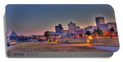 Cityscape - Skyline - Memphis At Dawn Portable Battery Charger by Barry Jones