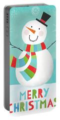 Merry Snowman IIi Portable Battery Charger by Lamai Mccartan