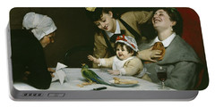 Merrymakers Portable Battery Charger by Charles Emile Auguste Carolus-Duran