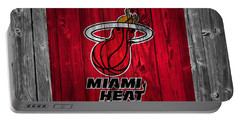 Miami Heat Barn Door Portable Battery Charger by Dan Sproul