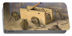 Mice And Huntley Palmers Superior Biscuits Portable Battery Charger by Agnes Louise Holding