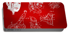 Michael Jackson Anti-gravity Shoe Patent Artwork Red Portable Battery Charger by Nikki Marie Smith
