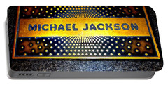 Michael Jackson Apollo Walk Of Fame Portable Battery Charger by Ed Weidman